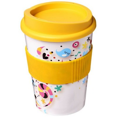 Picture of BRITE-AMERICANO® MEDIO 300 ML TUMBLER with Grip in Yellow