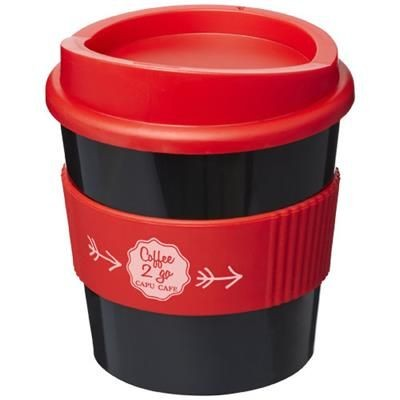 Picture of AMERICANO® PRIMO 250 ML TUMBLER with Grip in Black Solid-red
