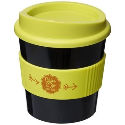 Picture of AMERICANO® PRIMO 250 ML TUMBLER with Grip in Black Solid-lime