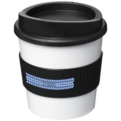 Picture of AMERICANO® PRIMO 250 ML TUMBLER with Grip in White Solid-black Solid