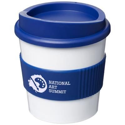 Picture of AMERICANO® PRIMO 250 ML TUMBLER with Grip in White Solid-blue
