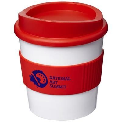 Picture of AMERICANO® PRIMO 250 ML TUMBLER with Grip in White Solid-red