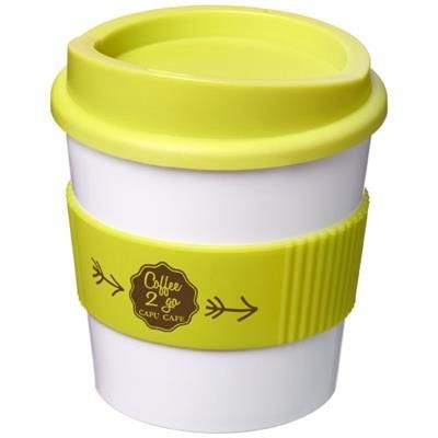 Picture of AMERICANO® PRIMO 250 ML TUMBLER with Grip in White Solid-lime Green