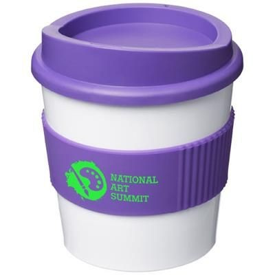 Picture of AMERICANO® PRIMO 250 ML TUMBLER with Grip in White Solid-purple