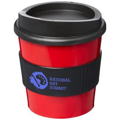 Picture of AMERICANO® PRIMO 250 ML TUMBLER with Grip in Red-black Solid