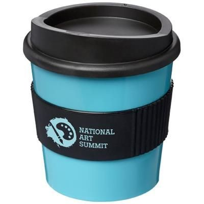 Picture of AMERICANO® PRIMO 250 ML TUMBLER with Grip in Aqua Blue-black Solid