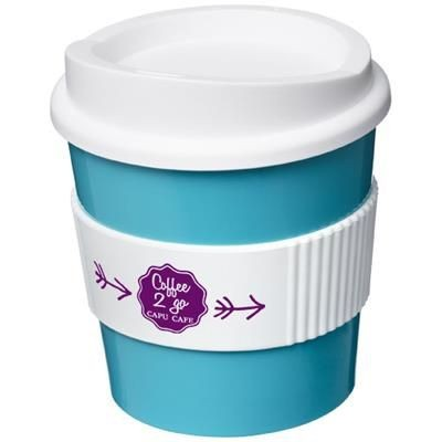 Picture of AMERICANO® PRIMO 250 ML TUMBLER with Grip in Aqua Blue-white Solid