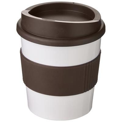 Picture of AMERICANO® PRIMO 250 ML TUMBLER with Grip in White Solid-brown