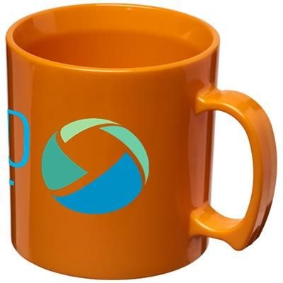 Picture of STANDARD 300 ML PLASTIC MUG in Orange