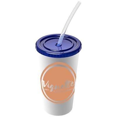 Picture of BRITE-AMERICANO® 350 ML DOUBLE-WALLED STADIUM CUP in Blue