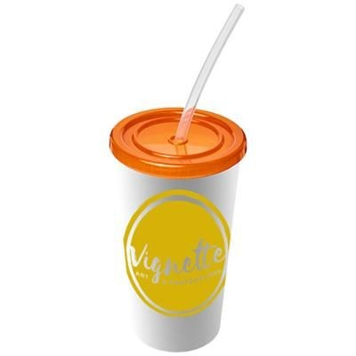 Picture of BRITE-AMERICANO® 350 ML DOUBLE-WALLED STADIUM CUP in Orange