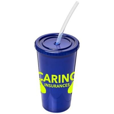 Picture of STADIUM 350 ML DOUBLE-WALLED CUP in Blue
