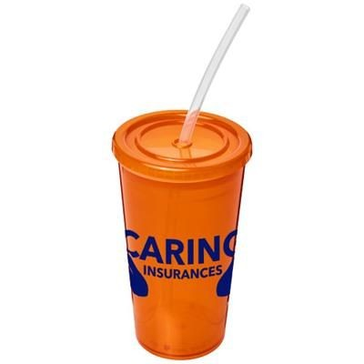Picture of STADIUM 350 ML DOUBLE-WALLED CUP in Orange