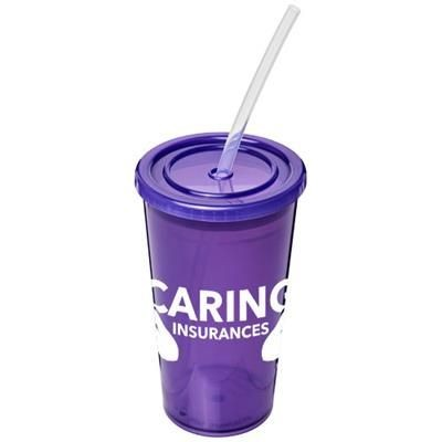 Picture of STADIUM 350 ML DOUBLE-WALLED CUP in Purple
