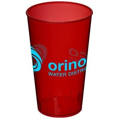 Picture of ARENA 375 ML PLASTIC TUMBLER in Transparent-red