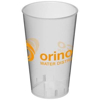 Picture of ARENA 375 ML PLASTIC TUMBLER in Clear Transparent White