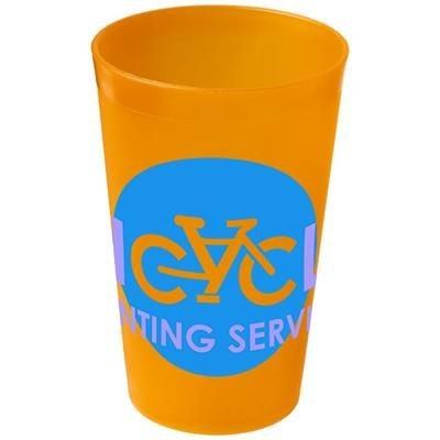 Picture of DRENCH 300 ML PLASTIC TUMBLER in Orange