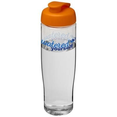 Picture of H2O TEMPO® 700 ML FLIP LID SPORTS BOTTLE in Transparent-orange