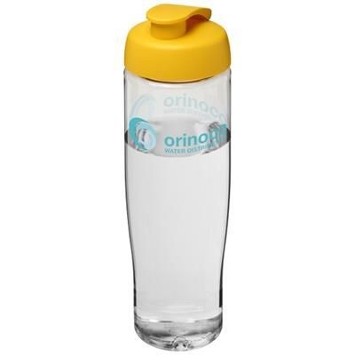 Picture of H2O TEMPO® 700 ML FLIP LID SPORTS BOTTLE in Transparent-yellow