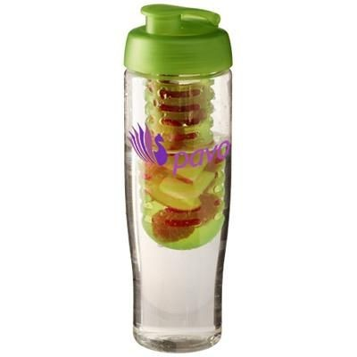Picture of H2O TEMPO® 700 ML FLIP LID SPORTS BOTTLE & INFUSER in Transparent-lime