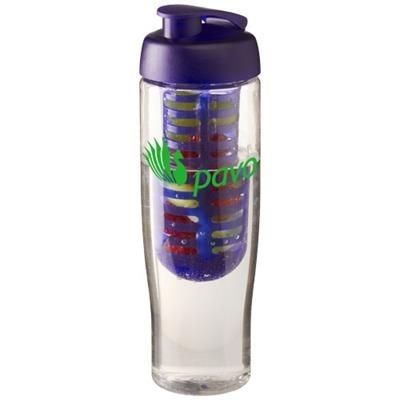 Picture of H2O TEMPO® 700 ML FLIP LID SPORTS BOTTLE & INFUSER in Transparent-purple