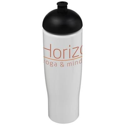 Picture of H2O TEMPO® 700 ML DOME LID SPORTS BOTTLE in White Solid-black Solid