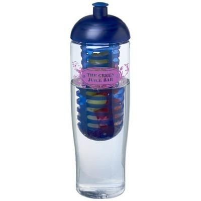 Picture of H2O TEMPO® 700 ML DOME LID SPORTS BOTTLE & INFUSER in Transparent-blue