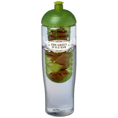 Picture of H2O TEMPO® 700 ML DOME LID SPORTS BOTTLE & INFUSER in Transparent-lime