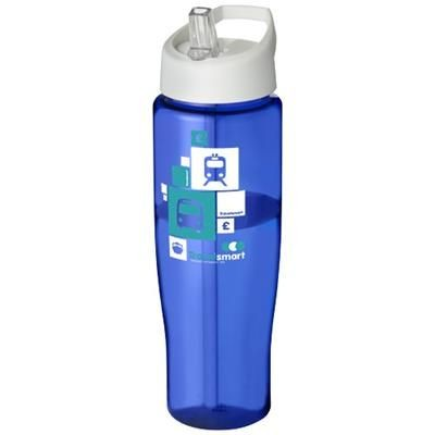Picture of H2O TEMPO® 700 ML SPOUT LID SPORTS BOTTLE in Blue-white Solid