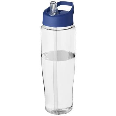 Picture of H2O TEMPO® 700 ML SPOUT LID SPORTS BOTTLE in Transparent-blue