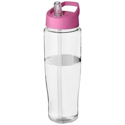 Picture of H2O TEMPO® 700 ML SPOUT LID SPORTS BOTTLE in Transparent-pink