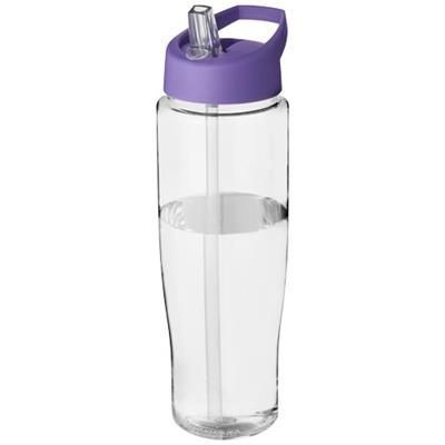 Picture of H2O TEMPO® 700 ML SPOUT LID SPORTS BOTTLE in Transparent-purple
