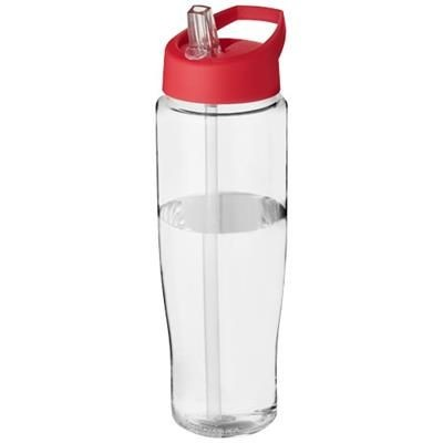 Picture of H2O TEMPO® 700 ML SPOUT LID SPORTS BOTTLE in Transparent-red