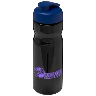 Picture of H2O BASE® 650 ML FLIP LID SPORTS BOTTLE in Black Solid-blue