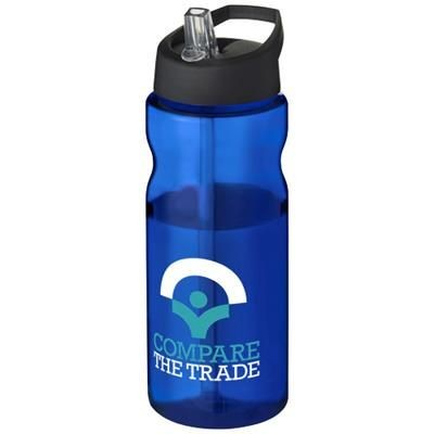 Picture of H2O BASE® 650 ML SPOUT LID SPORTS BOTTLE in Blue-black Solid