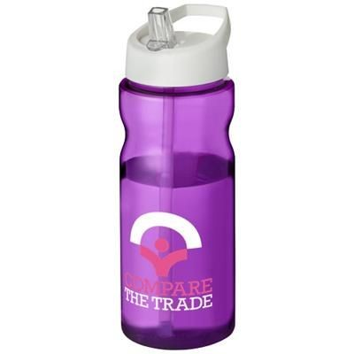 Picture of H2O BASE® 650 ML SPOUT LID SPORTS BOTTLE in Purple-white Solid