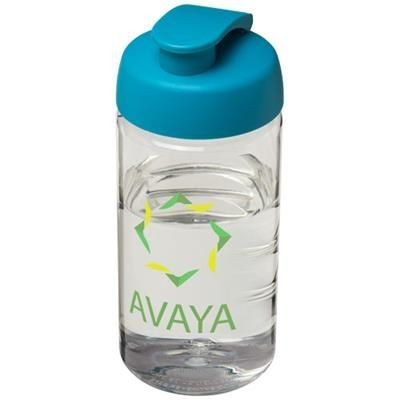 Picture of H2O BOP® 500 ML FLIP LID SPORTS BOTTLE in Transparent-aqua Blue