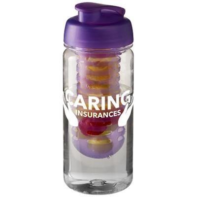 Picture of H2O OCTAVE TRITAN 600 ML FLIP LID BOTTLE & INFUSER in Transparent-purple