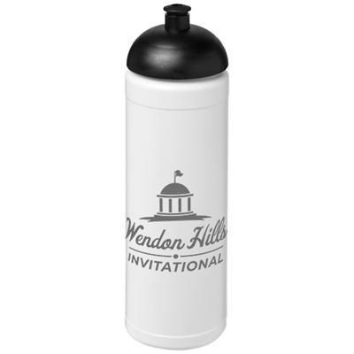 Picture of BASELINE® PLUS 750 ML DOME LID SPORTS BOTTLE in White Solid-black Solid