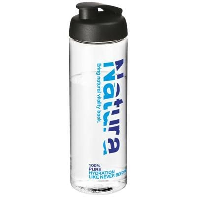 Picture of H2O VIBE 850 ML FLIP LID SPORTS BOTTLE in Transparent-black Solid