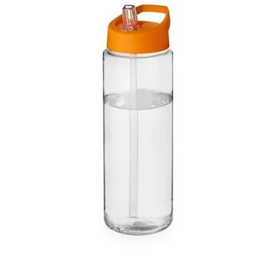 Picture of H2O VIBE 850 ML SPOUT LID SPORTS BOTTLE in Clear Transparent & Orange