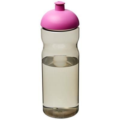 Picture of H2O ECO 650 ML DOME LID SPORTS BOTTLE in Heather Charcoal-magenta