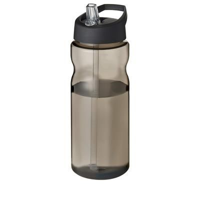 Picture of H2O ECO 650 ML SPOUT LID SPORTS BOTTLE in Charcoal & Black Solid