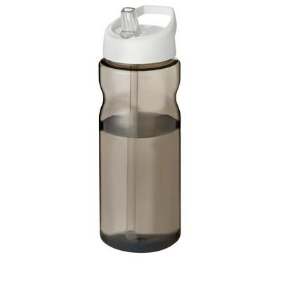 Picture of H2O ECO 650 ML SPOUT LID SPORTS BOTTLE in Heather Charcoal-white Solid