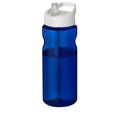 Picture of H2O ECO 650 ML SPOUT LID SPORTS BOTTLE in Blue-white Solid