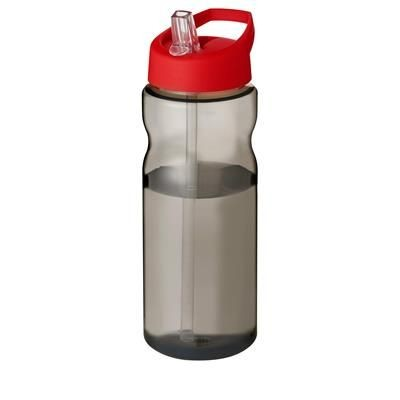 Picture of H2O ECO 650 ML SPOUT LID SPORTS BOTTLE in Heather Charcoal-red
