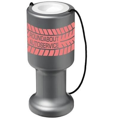 Picture of ASRA HAND HELD PLASTIC CHARITY CONTAINER in Silver
