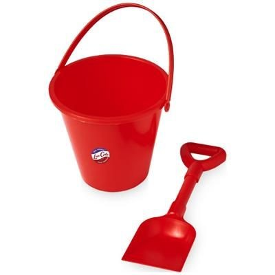 Picture of FINN BEACH BUCKET AND SPADE in Red