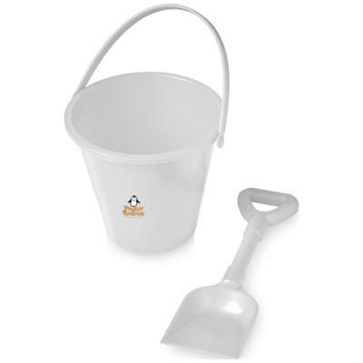 Picture of FINN BEACH BUCKET AND SPADE in White Solid