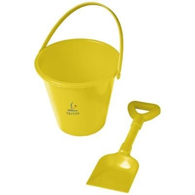 Picture of FINN BEACH BUCKET AND SPADE in Yellow